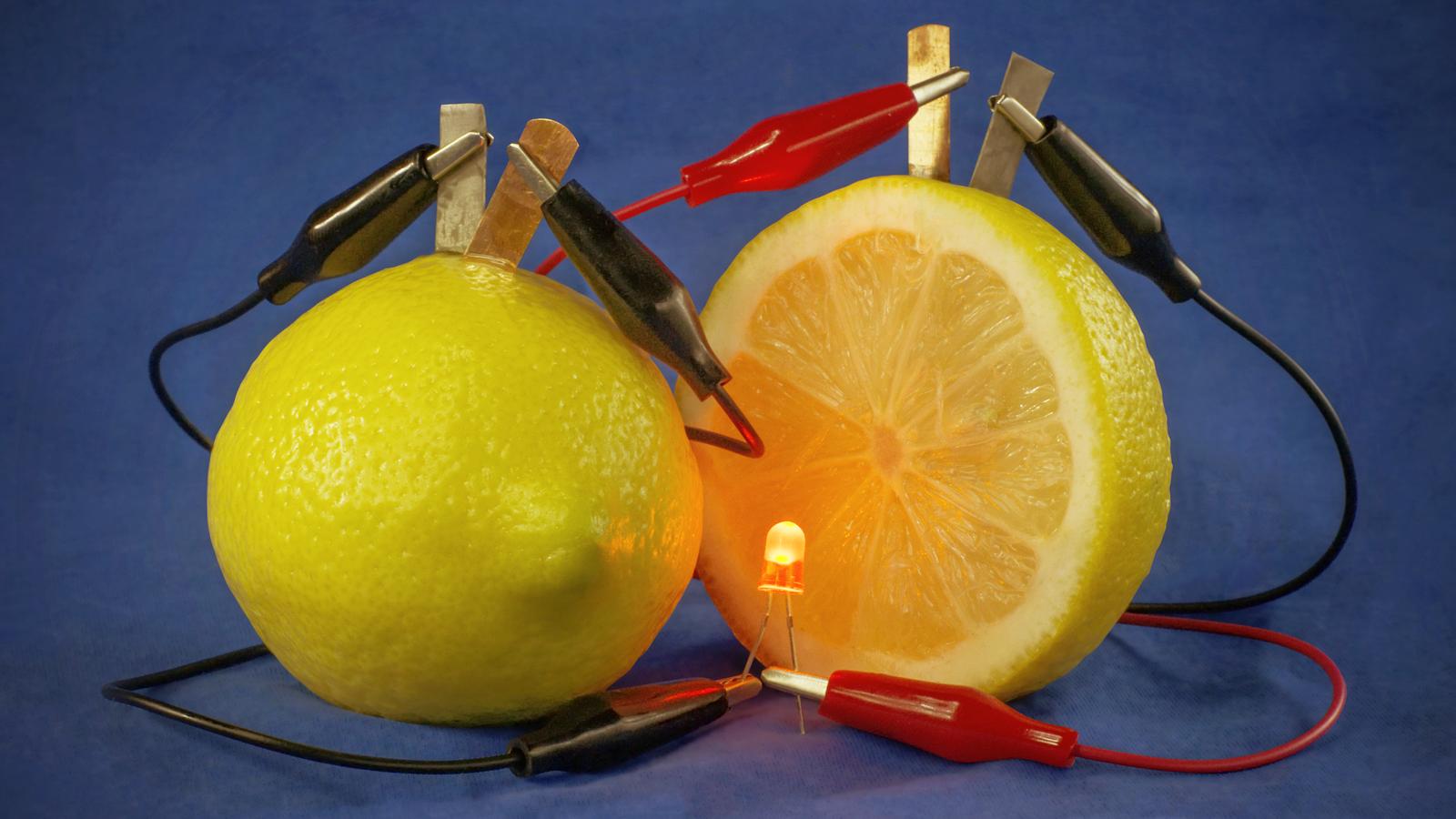 Electricity Lemon Experiment